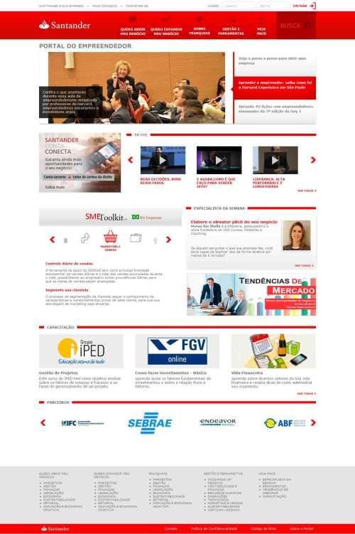 25-09-2014 - chamada de capa Portal Santander Empreendedor
